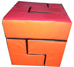 A Giant Puzzle Cube Inflatable