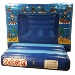 A delightful 'Pirate' themed bouncy castle